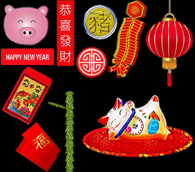 2019 nouvel an chinois – année du cochon – année de la prospérité et donc du changement